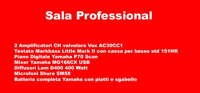 Specifiche Sala Professional