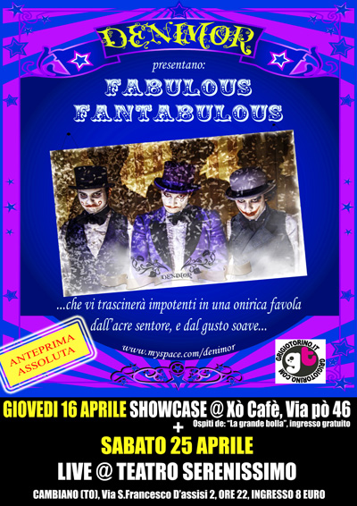DENIMOR live in FABULOUS FANTABULOUS