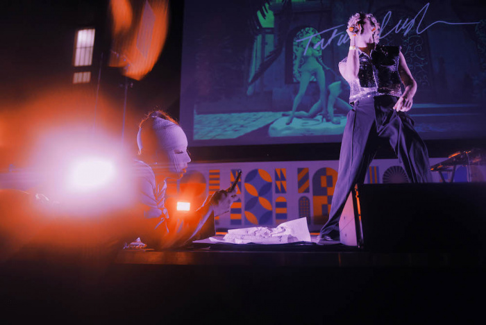 Jaz Ayling e Tatum Rush live @MI MANCHI in Triennale - foto Silvia Violante Rouge