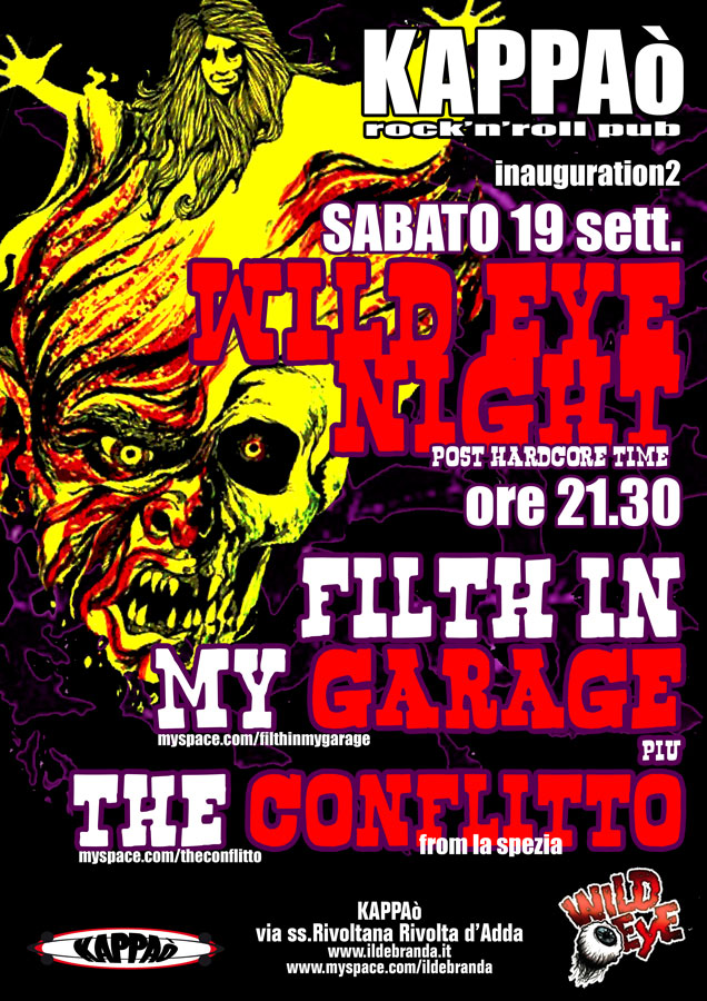 sab 19 settembre Wild eye night
