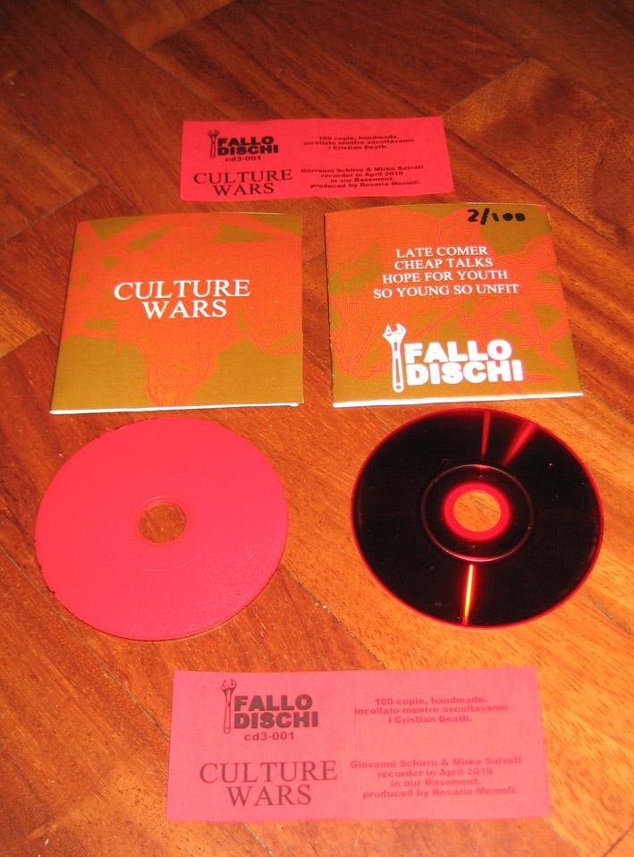 cd3-001, Culture Wars - self-titled; cd 3 - 100 copie, handmade.