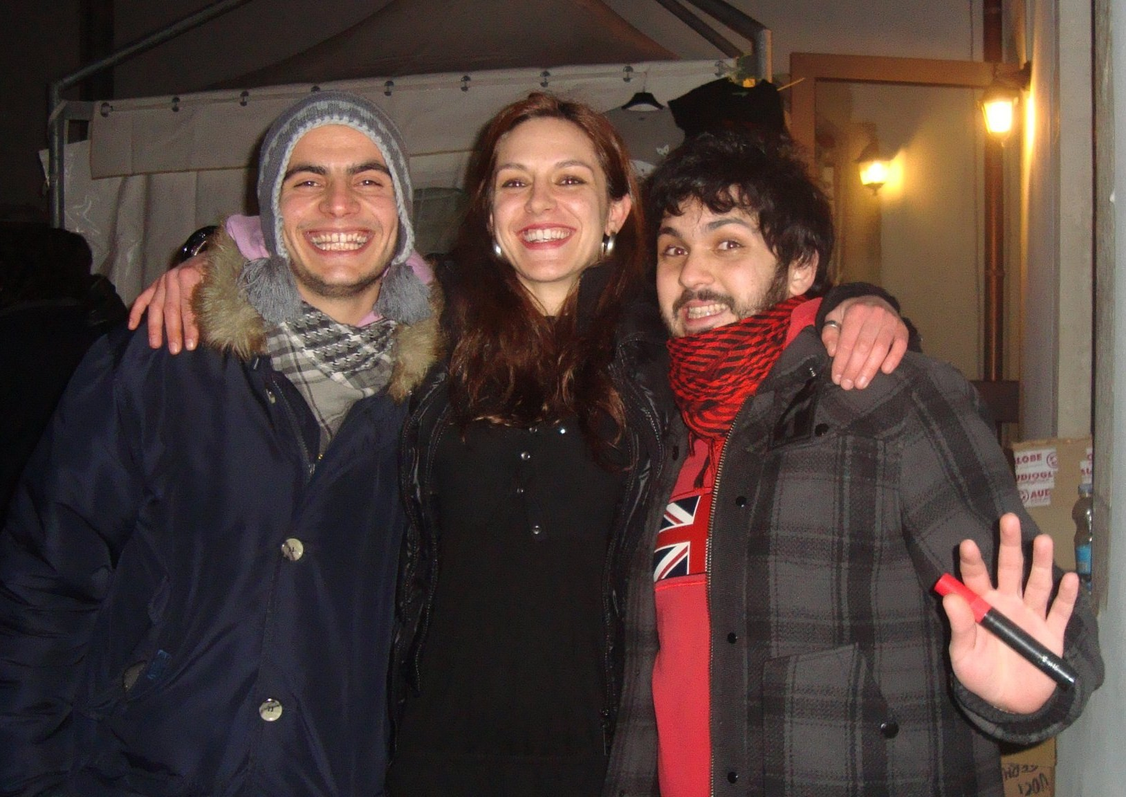 ilaria (a toys orchestra), io col pennarello rosso, quello a sinistra non mi pare di conoscerlo.
