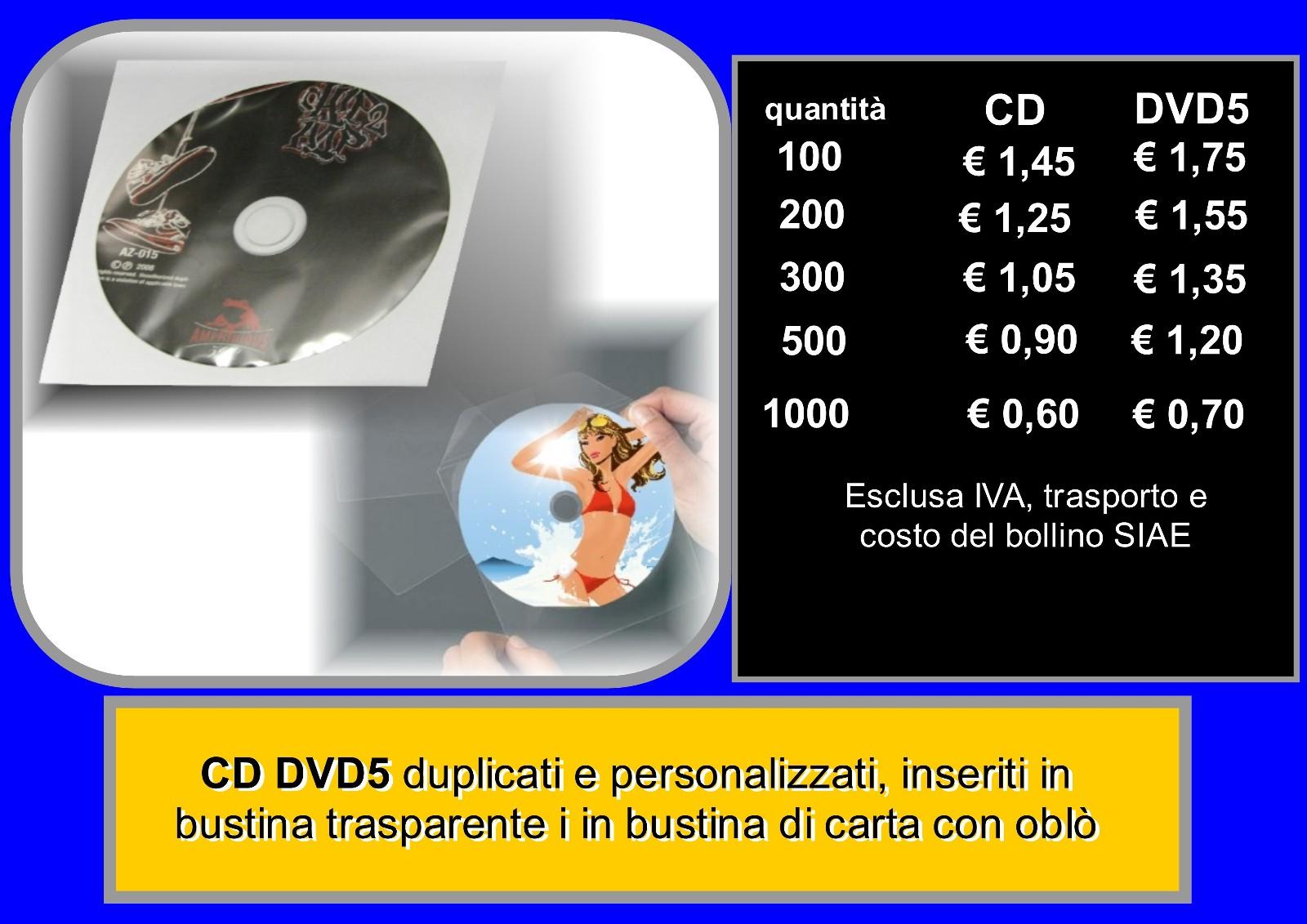cd-dvd in bustina