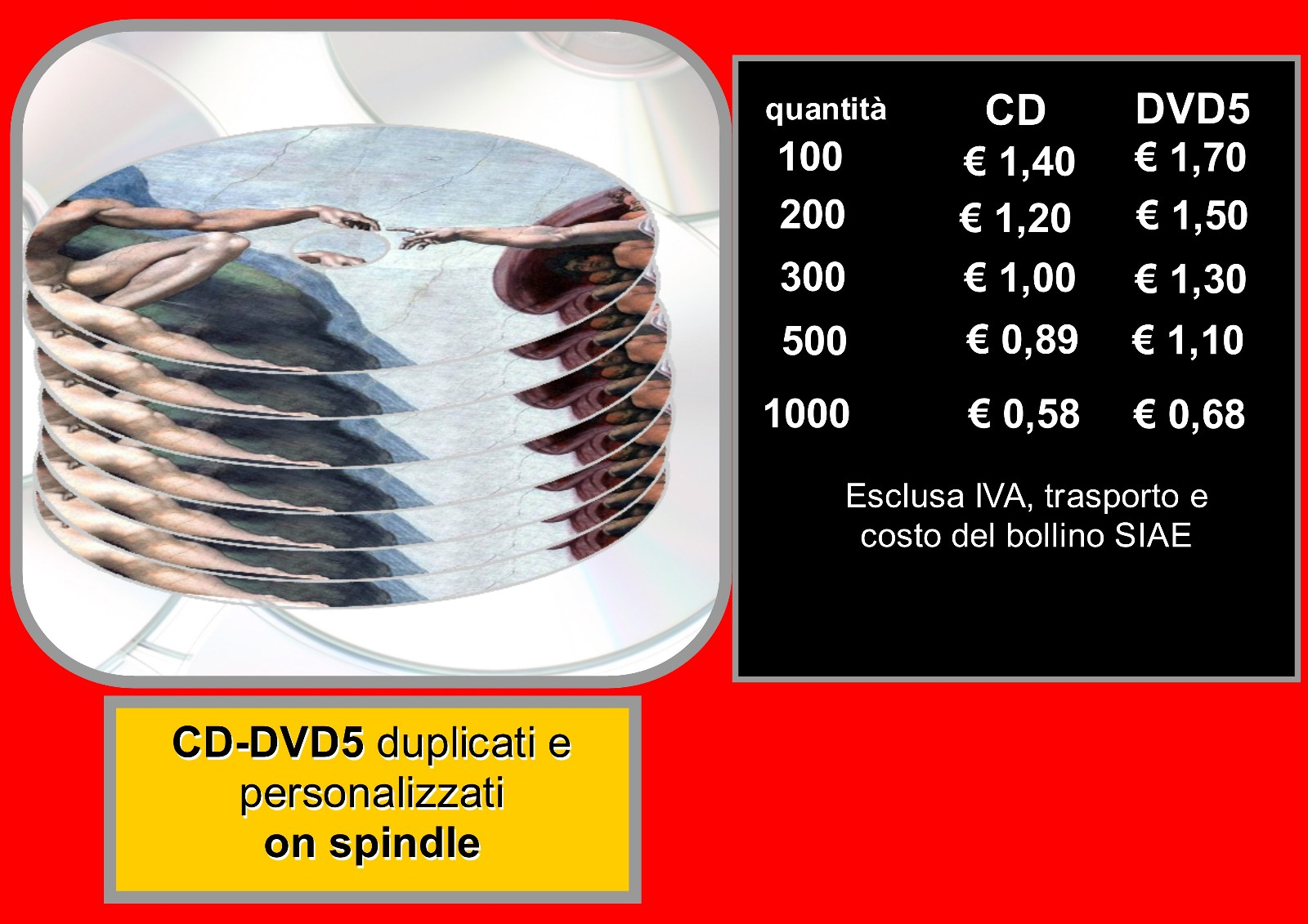 cd dvd on spindle