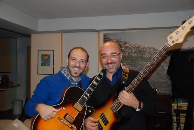 OLIVA con DINO PLASMATI, grande chitarrista jazz e collaboratore dei Vastax
