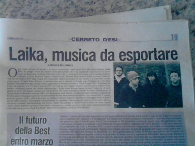 Laika,musica da esportare