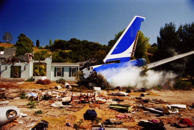 Air crash in Hollywood