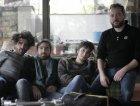 la band con il produttore Fabio Rizzo