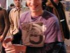 alberto dei verdena, a faenza, al MEI 2001, e' un po' shekerato... non so se s'e' mosso lui o il fotografo... lui.