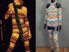 """Il costume disegnato ai tempi da Kansai Yamamoto per il tour di """"Aladdin Sane"""" (versione intera)"""