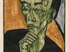 Mannerbildnis (Ritratto d'uomo) di Erich Heckel