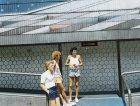 Il dj Flemming Dalum davanti all'Altro Mondo di Rimini,1985