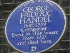 La classica placca blu di Handel