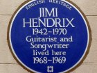 La classica placca blu di Hendrix