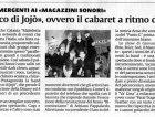 Evento Maledetta primavera: Articolo sul quotidiano La Sicilia