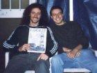 Cristiano è il batterista degli Extrema, Milanosuona 98, a dx Camillo