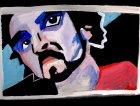ritratto di Nicola Manzan - acrilico su tela di Matteo Romagnoli
