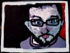 Autoritratto di Matteo Romagnoli - acrilico su tela