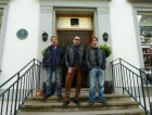 Gennaro, Sergio ed Enrico all'ingresso degli Studios
