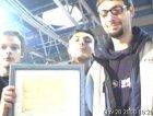 Gli Hangin al MEI di Faenza per la premiazione per il Concorso del Miglior Sito Web di una Band.