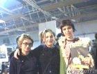 tre donzelle. da sx: la fatina della copertina n.11 di rockit, la fotografa della copertina (giulia mazza) e Laura dei julie's haircut.
