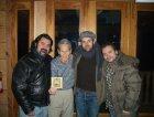 The Beards con Levon Helm(The Band) nel suo studio a Woodstock, NY. Dicembre 2006
