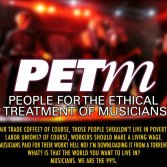Il logo di PETM, People for an ethical treatment of musicians