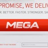 Il logo di Me.ga, il nuovo Megaupload bloccato dal governo del Gabon
