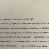 La commovente lettera di una madre trovata dentro un vinile