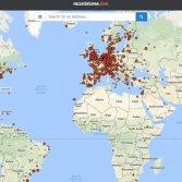 Mappa negozi di dischi mondo