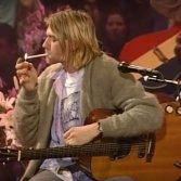 Kurt Cobain durante l'Unplugged dei Nirvana