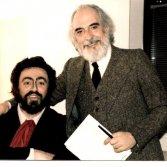 Claudio Giombi con Luciano Pavarotti - foto via Facebook Maestro di Canto