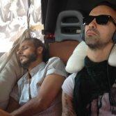 Alessandro Raina e Leziero Rescigno degli Amor Fou in furgone, foto di Giuliano Dottori