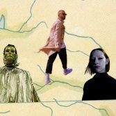 Gianpace (foto di Alise Blandini), Populous (foto stampa) e Caterina Barbieri (foto di Jim C. Nedd) sulla cover del disco di Eno