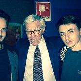 Amedeo Nan (a dx) con Franco Cerri e un amico - foto per concessione di Amedeo Nan