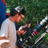 Enea Colombi durante le riprese di un suo video - foto di Martina Zerpelloni
