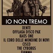 emilia romagna, Io non tremo è il festival che si terrà il 18 luglio a Modena a favore dei terremotati
