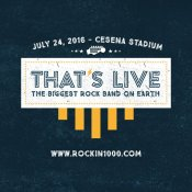 rockin1000, That's Live -The biggest rock band on earth
