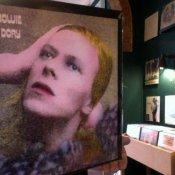 negozio dischi, david bowie hunky dory