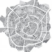 illustrazioni, Milano Music Map