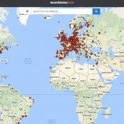 negozio dischi, Mappa negozi di dischi mondo