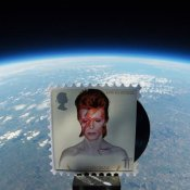 david bowie, david bowie francobolli spazio
