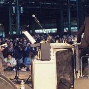 spettacolo, Baricco e Bianconi durante il reading, dalla pagina Facebook di Francesco Bianconi