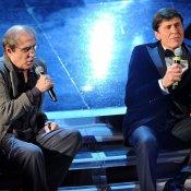 tv, Gianni Morandi e Adriano Celentano