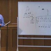 studio, Il professor Wright durante una lezione