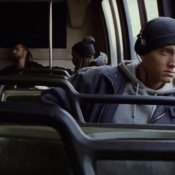 rap, Un'immagine del video di Eminem Lose Yourself