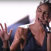 inediti, Rita Bellanza mentre interpreta il suo inedito