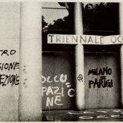 playlist, L'ingresso del Palazzo della Triennale a Milano nel maggio del 1968 (foto via Wikipedia)