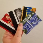 curiosità, David Bowie metrocards (foto via Instagram)