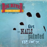 GIRL WITH NAILS PAINTED BLACK